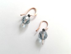 Swarovski crystal blue copper paddle earrings img 2